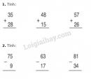 Bài 1, 2, 3, 4 trang 160 sgk Toán lớp 2