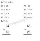 Bài 1, 2, 3, 4 trang 170 SGK Toán 2