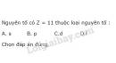 Bài 1 trang 27 SGK Hoá học 10