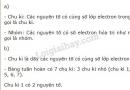 Bài 1 trang 53 SGK Hóa học 10