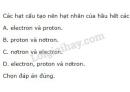 Bài 1 trang 9 SGK Hoá học 10