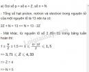 Bài 4 trang 28 SGK Hoá học 10