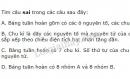 Bài 5 trang 35 SGK Hoá học 10