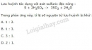 Bài 1 - Trang 132 - SGK Hóa Học 10