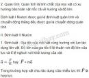 Lý thuyết ba định luật Niutơn