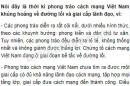 Tại sao nói đây là thời kì phong trào cách mạng Việt Nam