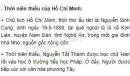 Sưu tầm tài liệu và trình bày về thời niên thiếu của Hồ Chí Minh.