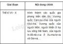 Lập bảng tóm tắt các giai đoạn lịch sử trong sự phát triển của khu vực Đông Nam Á đến giữa thế kỉ XIX.