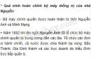 Trình bày khái quát và nhận xét quá trình hoàn chỉnh bộ máy thống trị của nhà Nguyễn.