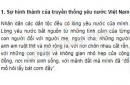 Tóm tắt mục I. Sự hình thành của truyền thống yêu nước Việt Nam