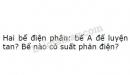 Bài 5 trang 85 SGK Vật lí 11