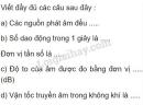 Bài 1 trang 45 SGK Vật lí 7