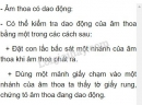 Bài C5 trang 29 SGK Vật lí 7