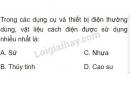 Bài C8 trang 57 SGK Vật lí 7