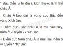 Câu 1 - Trang 6 - SGK Địa lí 8