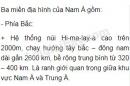 Bài 1 trang 36 SGK Địa lí 8