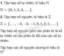 Lý thuyết về các tập hợp số