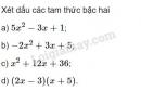 Bài 1 trang 105 SGK Đại số 10