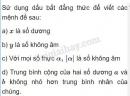 Câu 1 trang 106 SGK Đại số 10