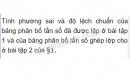 Bài 1 trang 128 (Phương sai và độ lệch chuẩn) SGK Đại số 10
