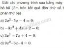 Bài 5 trang 62 SGK Đại số 10