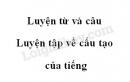 Luyện từ và câu: Luyện tập về cấu tạo của tiếng trang 12 SGK Tiếng Việt 4 tập 1