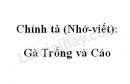 Chính tả: Gà Trống và Cáo trang 67 SGK Tiếng Việt 4 tập 1