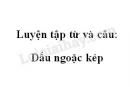Luyện tập từ và câu: Dấu ngoặc kép trang 82 SGK Tiếng Việt 4 tập 1