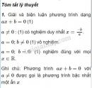 Lý thuyết phương trình quy về phương trình bậc nhất, bậc hai
