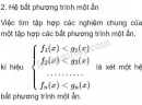 Lý thuyết Bất phương trình và hệ bất phương trình một ẩn