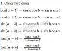 Lý thuyết công thức lượng giác
