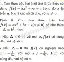 Lý thuyết dấu của tam thức bậc hai