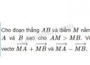 Bài 1 trang 12 SGK Hình học 10