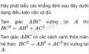 Bài 1 trang 159 (Câu hỏi) SGK Đại số 10