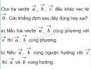 Bài 1 trang 7 SGK Hình học 10