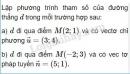 Bài 1 trang 80 sgk hình học 10