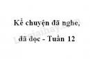 Kể chuyện đã nghe, đã đọc trang 119 SGK Tiếng Việt 4 tập 1