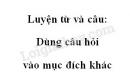 Luyện từ và câu: Dùng câu hỏi vào mục đích khác trang 142 SGK Tiếng Việt 4 tập 1
