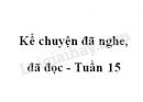 Kể chuyện đã nghe, đã đọc trang 148 SGK Tiếng Việt 4 tập 1