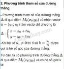 Lý thuyết phương trình đường thẳng