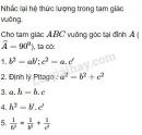 Lý thuyết các hệ thức lượng trong tam giác và giải tam giác