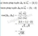 Bài 8 trang 93 SGK Hình học 10