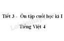 Tiết 3 - Ôn tập cuối học kì I trang SGK Tiếng Việt 4 tập 1