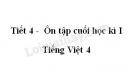 Tiết 4 - Ôn tập cuối học kì I trang 174 SGK Tiếng Việt 4 tập 1