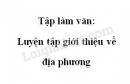 Tập làm văn: Luyện tập giới thiệu về địa phương trang 19 SGK Tiếng Việt 4 tập 2