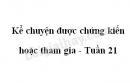 Kể chuyện được chứng kiến hoặc tham gia trang 25 SGK Tiếng Việt 4 tập 2