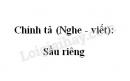 Chính tả (Nghe - viết): Sầu riêng trang 35 SGK Tiếng Việt 4 tập 2