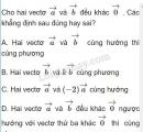 Bài 2 trang 27 SGK Hình học 10