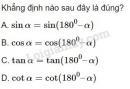 Bài 8 trang 64 SGK Hình học 10