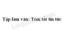 Tập làm văn: Tóm tắt tin tức trang 63 SGK Tiếng Việt 4 tập 2